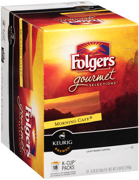 Folgers Gourmet Selections® Morning Cafe® Light Roast Coffee K-Cup® Packs 18 ct Box