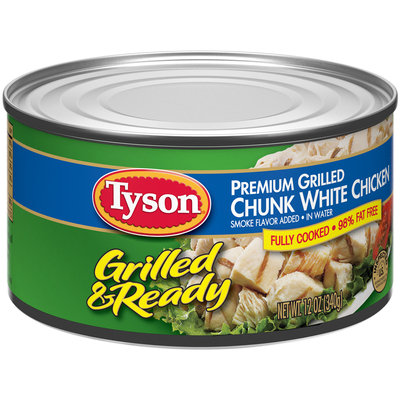 Tyson® Grilled & Ready Premium Grilled Chunk White Chicken 12 oz. Can