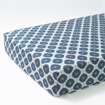 OM Home Jasper Crib Sheet - Blue - 1 ct.