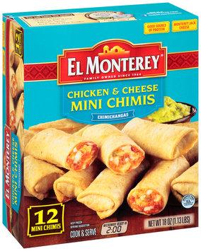 El Monterey® Chicken & Cheese Mini Chimis 12 ct Box