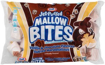 kraft jet-puffed mallow bites vanilla & chocolate flavored swirled marshmallows