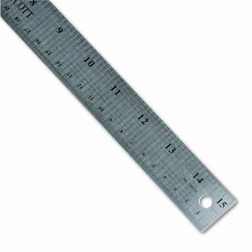 Acme United Corporation ACM10416 Ruler- 15in. Long- Stainless Steel