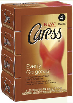 Caress Evenly Gorgeous 4.25 Oz Beauty Bar 4 Ct Pack