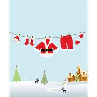 Secretly Designed Santas Laundry Art Print