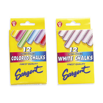 Sargent Art Molded Chalk assorted colors pack of 12