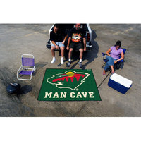 Sls Mats Fan Mats FAN-14444 Minnesota Wild NHL Man Cave Tailgater Floor Mat - 60in x 72in
