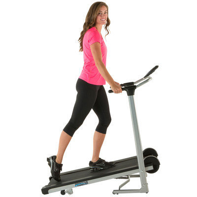 LX225 Cushion Deck Manual Treadmill with Additional Weight Capacity and Heart Rate System