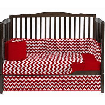 Baby Doll Bedding Chevron 4 Piece Crib Bedding Set Color: Red