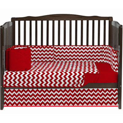 Baby Doll Bedding Chevron 4 Piece Crib Bedding Set Color: Red