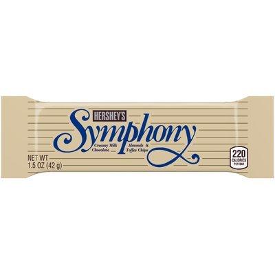 Hershey Symphony Milk Chocolate with Almonds and Toffee 1.5 oz. Wrapper