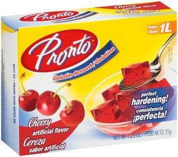 Pronto™ Cherry Water Based Gelatin Dessert 1.23 oz. Box