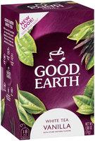 Good Earth White Tea Vanilla Blend Tea Bags 18 Ct Box