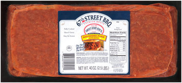 67th Street BBQ™ Shredded Pork with Sauce 40 oz. Pack