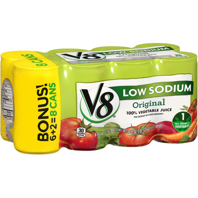 V8® Original Low Sodium Vegetable Juice 8-5.5 fl. oz. Cans
