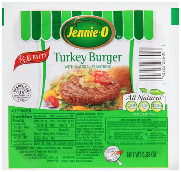 Jennie-O® Turkey Burger with Natural Flavoring 5.33 oz. Pack