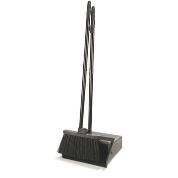 Carlisle Brooms & Mops Duo-Pan Lobby Dust Pan and Duo-Sweep Broom Black