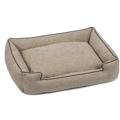 Jax And Bones Harper Textured Woven Lounge Dog Bed Size: Extra Large, Color: Sandstone