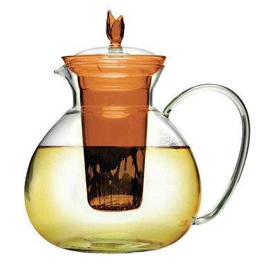 Epoca 60oz Glass Teapot Infusr Amber