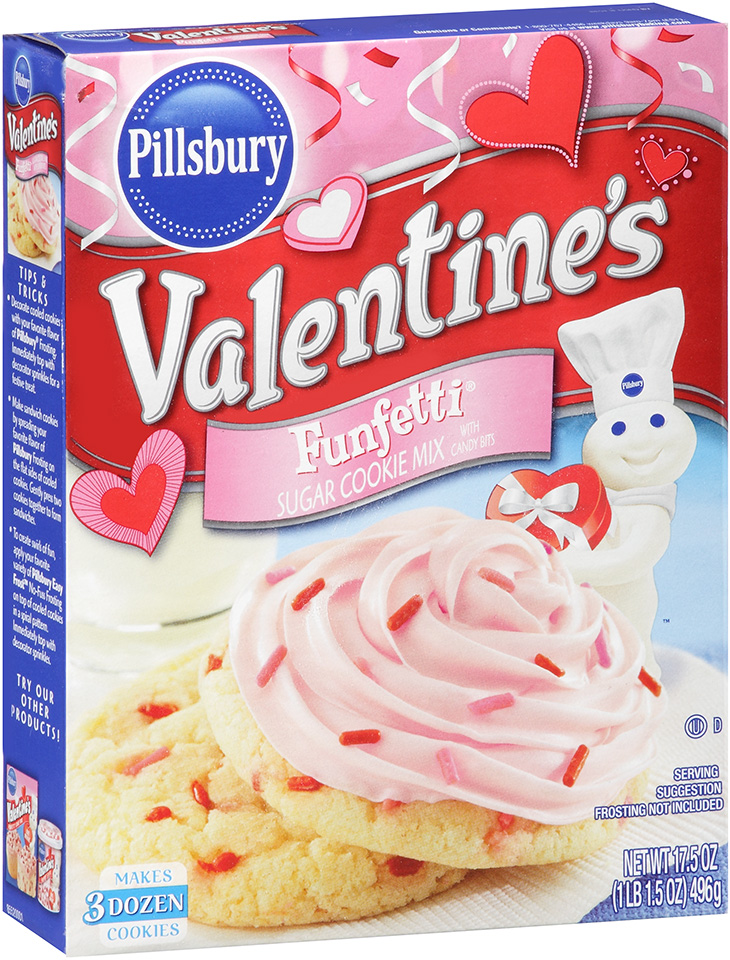 Pillsbury Valentine's Funfetti® Sugar Cookie Mix with Candy Bits 17.5 oz. Box