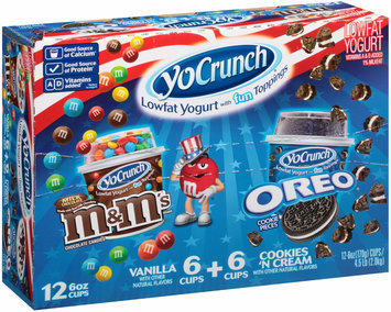 YoCrunch® Lowfat Yogurt M&M® Chocolate Candies, Oreo® Cookie Pieces