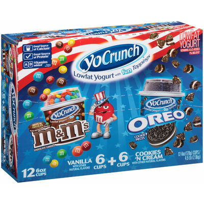 YoCrunch® Lowfat Yogurt M&M® Chocolate Candies, Oreo® Cookie Pieces