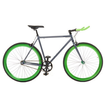 Vilano Edge Fixed Gear Single Speed Bike, Medium, Grey/Green