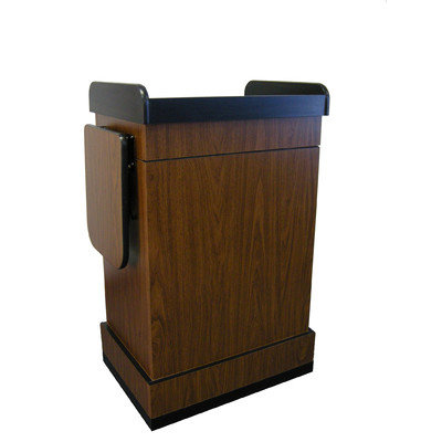 Amplivox Sound Systems Lectern, walnut,43-1/2x25-1/2x20-1/4 In Sn3230-wt 30f154