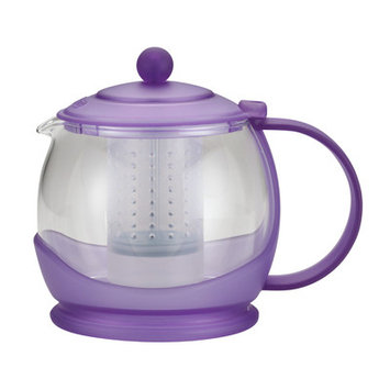 BonJour Prosperity 42-Ounce Glass Teapot, French Lavender