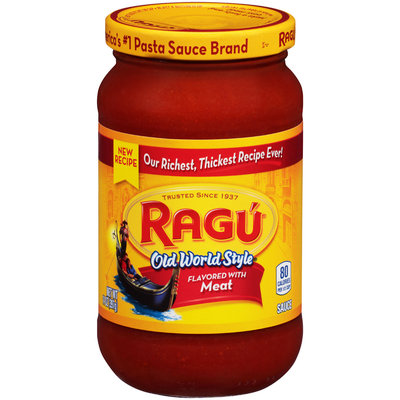 Ragu® Old World Style Pasta Sauce Flavored with Meat 14 oz. Jar