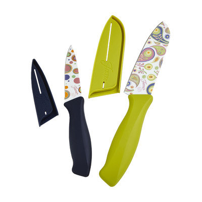 Fiesta 4 Piece Decal Knife Set Color: Flamingo