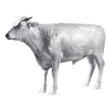 Design Toscano The Grand - Scale Wildlife Animal Unpainted Hereford Steer Statue