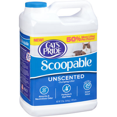 Cat's Pride® Scoopable Unscented Clumping Litter 12 lb Jug