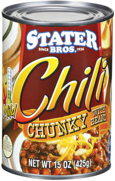 Stater Bros. Mild Chunky W/Beans Chili 15 Oz Can