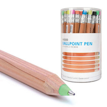 Kikkerland Wooden Writers Type: Ballpoint Pens