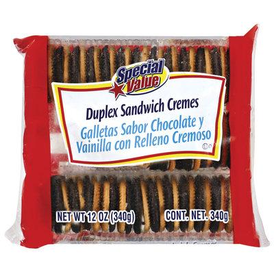 Special Value Duplex Sandwich Cremes Cookies