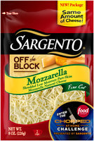 Sargento® Off the Block Mozzarella Fine Cut Shredded Cheese 8 oz. Bag