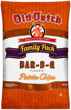 Old Dutch® Bar-B-Q Flavored Potato Chips Family Pack 9.5 oz. Bag