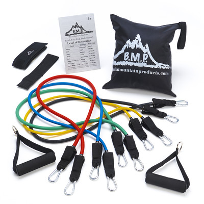 Black Mountain Products Resistance Bands Complete Set and Carrying Case