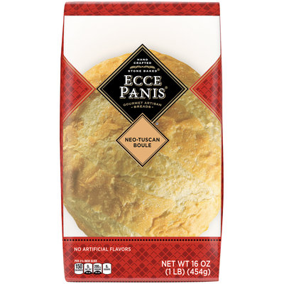 Ecce Panis® Handcrafted Stone Baked® Neo-Tuscan Boule Gourmet Artisan Breads 16 oz. Pack