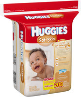 Huggies® Soft Skin Refill Baby Wipes 208 ct Bag