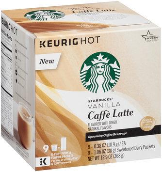 Starbucks Vanilla Caffe Latte Specialty Coffee Beverage K-Cups