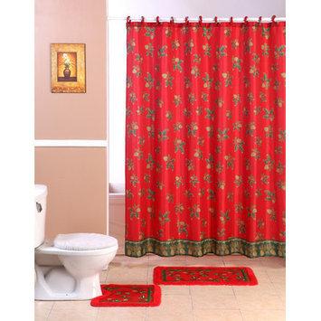 Dainty Home Christmas 2015 Mistletoe 15 Piece Bath Set