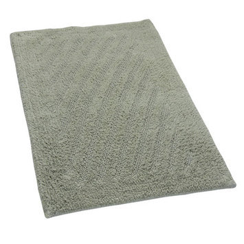 Textile Decor Castle 100% Cotton Shooting Star Reversible Bath Rug, 24 H X 17 W, Light Sage
