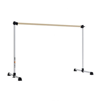 Vitavibe Prodigy Series Traditional Wood Single Bar Ballet Barre Size: 5 ft.