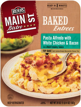 Reser's Fine Foods® Main St Bistro® Pasta Alfredo with White Chicken & Bacon 20 oz Tray