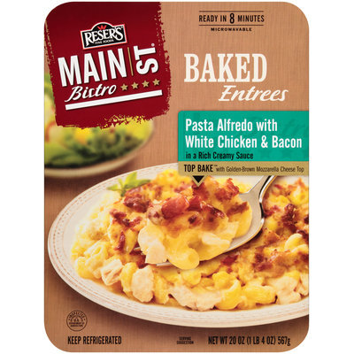 Reser's Fine Foods® Main St Bistro® Pasta Alfredo with White Chicken & Bacon 20 oz Tray