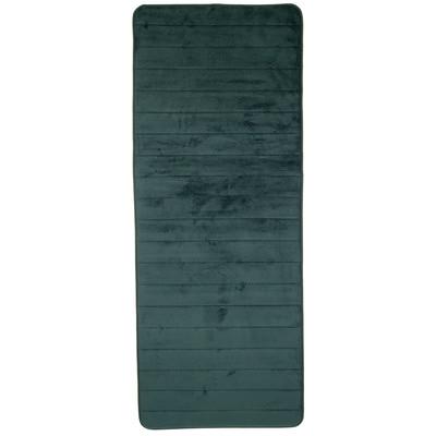 Lavish Home Extra Long Striped Memory Foam Bath Mat Color: Green