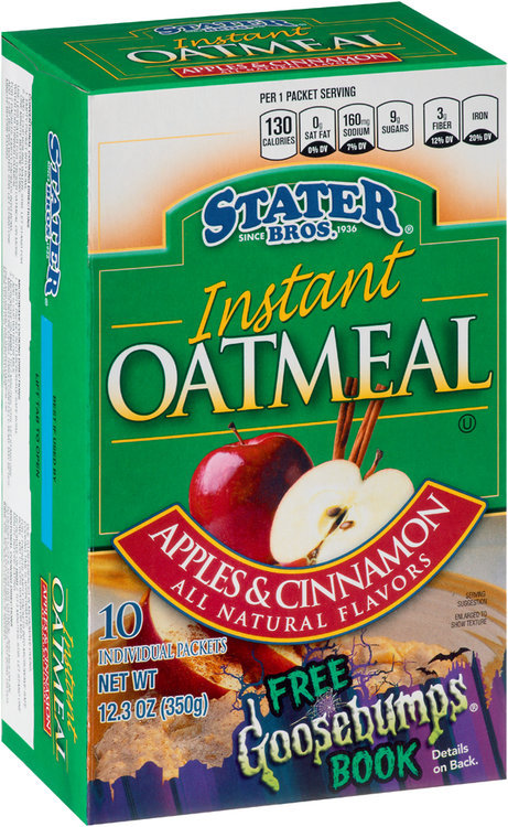 Stater bros® Apples & Cinnamon Instant Oatmeal