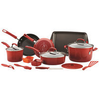 Rachael Ray 16-pc. Nonstick Aluminum Cookware Set (Red)