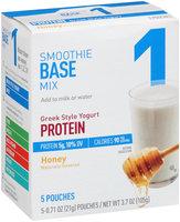 Great Value Greek Style Yogurt Protein Honey Smoothie Base Mix 5-0.71 oz. Pouches